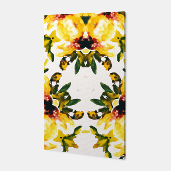 Thumbnail image of Watercolor abstact yellow flowers Canvas, Live Heroes