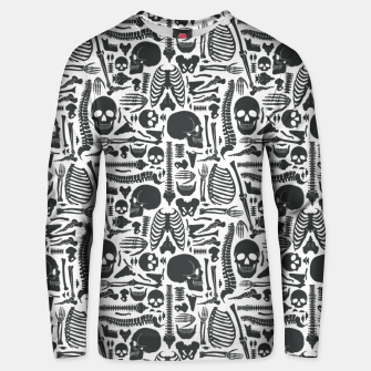 Thumbnail image of Human Skeleton Goth Pattern Unisex sweater, Live Heroes