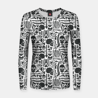 Thumbnail image of Human Skeleton Goth Pattern Women sweater, Live Heroes