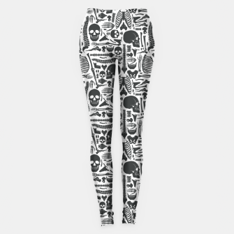 Thumbnail image of Human Skeleton Goth Pattern Leggings, Live Heroes