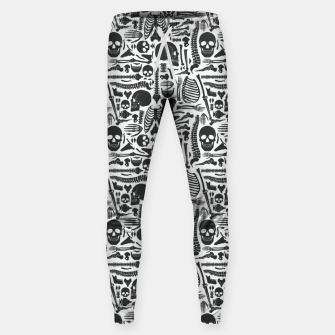 Thumbnail image of Human Skeleton Goth Pattern Sweatpants, Live Heroes