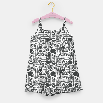 Thumbnail image of Human Skeleton Goth Pattern Girl's dress, Live Heroes