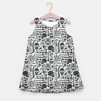 Miniaturka Human Skeleton Goth Pattern Girl's summer dress, Live Heroes