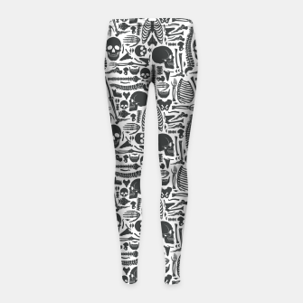 Miniaturka Human Skeleton Goth Pattern Girl's leggings, Live Heroes