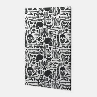 Thumbnail image of Human Skeleton Goth Pattern Canvas, Live Heroes