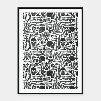 Thumbnail image of Human Skeleton Goth Pattern Framed poster, Live Heroes