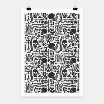 Thumbnail image of Human Skeleton Goth Pattern Poster, Live Heroes