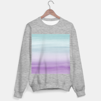Miniatur Touching Mermaid Girls Watercolor Abstract #1 #painting #decor #art Sweatshirt regulär, Live Heroes