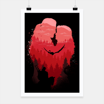 Miniatur Wild Lovers - Witcher Poster, Live Heroes