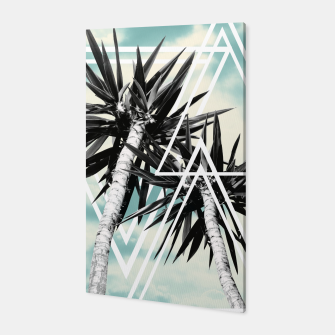 Thumbnail image of Cali Summer Vibes Palm Trees Geometric Triangles #1 #tropical #decor #art  Canvas, Live Heroes