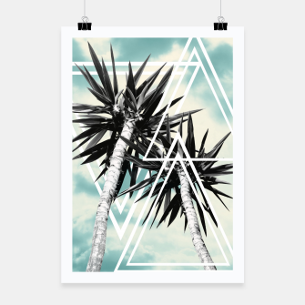 Miniatur Cali Summer Vibes Palm Trees Geometric Triangles #1 #tropical #decor #art  Plakat, Live Heroes