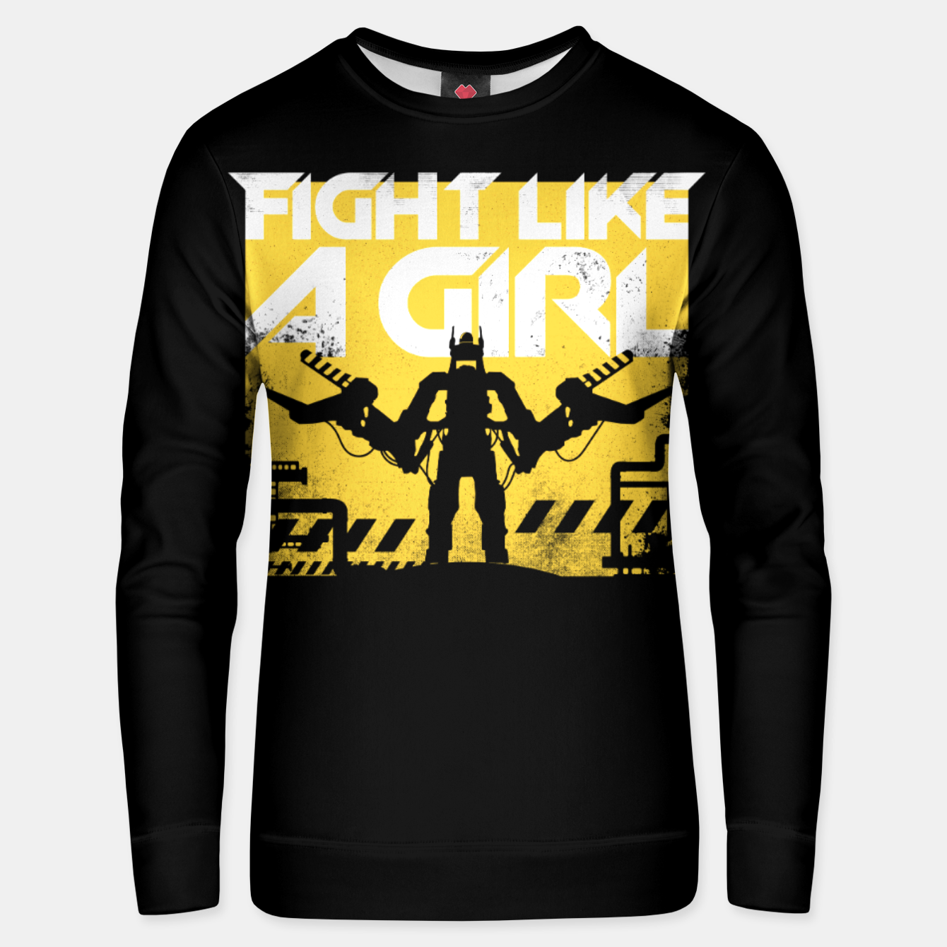 Image of Fight like a girl - alien - aliens Unisex sweater - Live Heroes