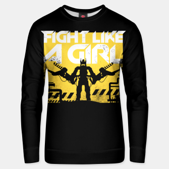 Thumbnail image of Fight like a girl - alien - aliens Unisex sweater, Live Heroes