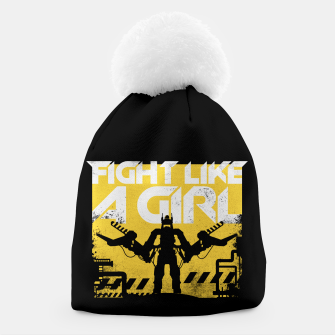 Thumbnail image of Fight like a girl - alien - aliens Beanie, Live Heroes