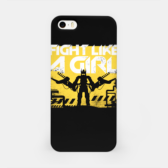 Miniatur Fight like a girl - alien - aliens iPhone Case, Live Heroes