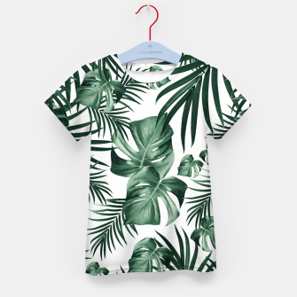 Thumbnail image of Tropical Jungle Leaves Pattern #4 (2020 Edition) #tropical #decor #art T-Shirt für kinder, Live Heroes