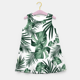Thumbnail image of Tropical Jungle Leaves Pattern #4 (2020 Edition) #tropical #decor #art Mädchen-Sommerkleid, Live Heroes