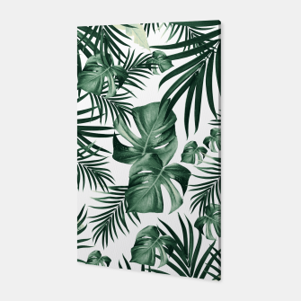 Thumbnail image of Tropical Jungle Leaves Pattern #4 (2020 Edition) #tropical #decor #art Canvas, Live Heroes
