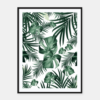 Imagen en miniatura de Tropical Jungle Leaves Pattern #4 (2020 Edition) #tropical #decor #art Plakat mit rahmen, Live Heroes