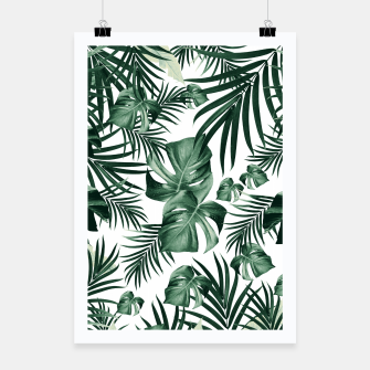 Miniatur Tropical Jungle Leaves Pattern #4 (2020 Edition) #tropical #decor #art Plakat, Live Heroes