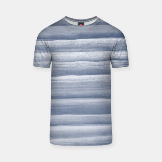 Miniaturka Touching Navy Blue Watercolor Abstract Stripe #1 #painting #decor #art  T-Shirt, Live Heroes