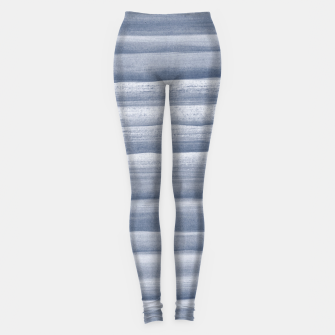 Miniaturka Touching Navy Blue Watercolor Abstract Stripe #1 #painting #decor #art  Leggings, Live Heroes