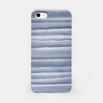 Miniaturka Touching Navy Blue Watercolor Abstract Stripe #1 #painting #decor #art  iPhone-Hülle, Live Heroes