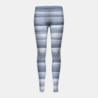 Miniaturka Touching Navy Blue Watercolor Abstract Stripe #1 #painting #decor #art  Kinder-Leggins, Live Heroes