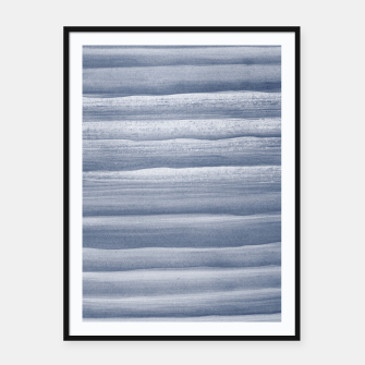Imagen en miniatura de Touching Navy Blue Watercolor Abstract Stripe #1 #painting #decor #art  Plakat mit rahmen, Live Heroes
