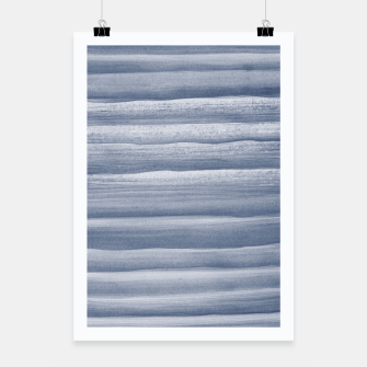Miniatur Touching Navy Blue Watercolor Abstract Stripe #1 #painting #decor #art  Plakat, Live Heroes