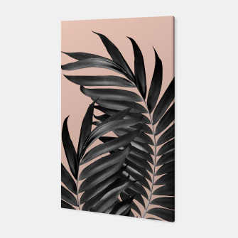 Thumbnail image of Palm Leaves Pale Terracotta Black Vibes #1 #tropical #decor #art Canvas, Live Heroes