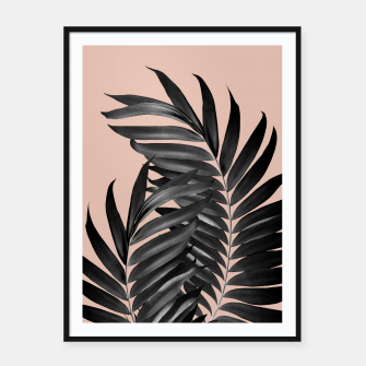 Imagen en miniatura de Palm Leaves Pale Terracotta Black Vibes #1 #tropical #decor #art Plakat mit rahmen, Live Heroes