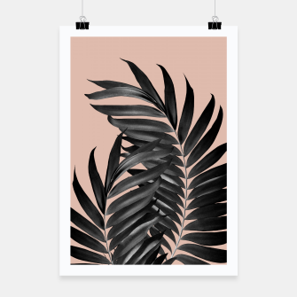 Miniatur Palm Leaves Pale Terracotta Black Vibes #1 #tropical #decor #art Plakat, Live Heroes