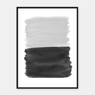 Imagen en miniatura de Gray Black Abstract Minimalism #1 #minimal #ink #decor #art  Plakat mit rahmen, Live Heroes
