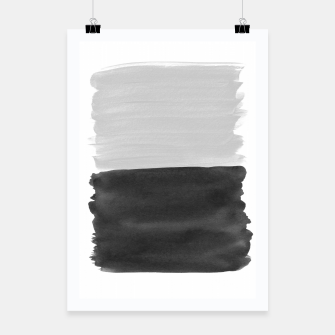 Miniatur Gray Black Abstract Minimalism #1 #minimal #ink #decor #art  Plakat, Live Heroes