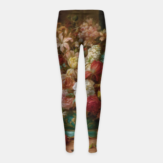 Thumbnail image of Bouquet Of Flowers With Butterflies by Hans Zatzka Girl's leggings, Live Heroes