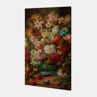 Thumbnail image of Bouquet Of Flowers With Butterflies by Hans Zatzka Canvas, Live Heroes