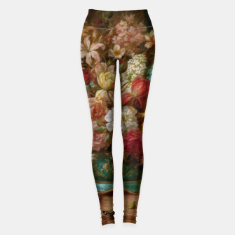 Thumbnail image of Bouquet Of Flowers With Butterflies by Hans Zatzka Leggings, Live Heroes