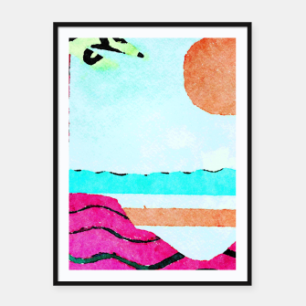 Thumbnail image of Beach Framed poster, Live Heroes
