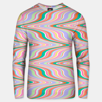 Thumbnail image of Infinity, retro colors of abstract ikat chevron pattern Unisex sweater, Live Heroes