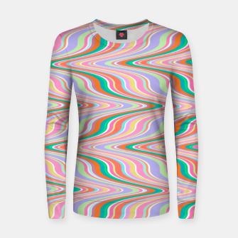 Thumbnail image of Infinity, retro colors of abstract ikat chevron pattern Women sweater, Live Heroes