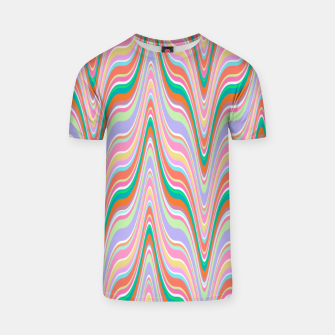 Thumbnail image of Infinity, retro colors of abstract ikat chevron pattern T-shirt, Live Heroes