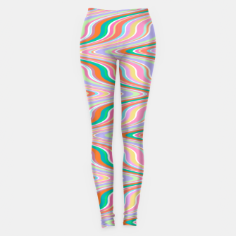 Thumbnail image of Infinity, retro colors of abstract ikat chevron pattern Leggings, Live Heroes