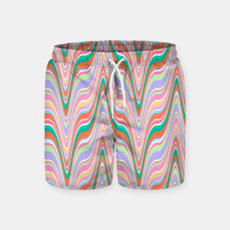Thumbnail image of Infinity, retro colors of abstract ikat chevron pattern Swim Shorts, Live Heroes