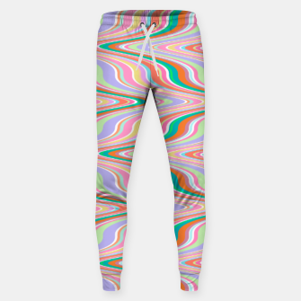 Thumbnail image of Infinity, retro colors of abstract ikat chevron pattern Sweatpants, Live Heroes