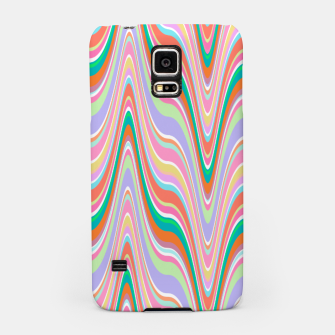 Thumbnail image of Infinity, retro colors of abstract ikat chevron pattern Samsung Case, Live Heroes