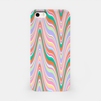 Thumbnail image of Infinity, retro colors of abstract ikat chevron pattern iPhone Case, Live Heroes