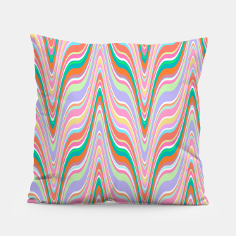 Thumbnail image of Infinity, retro colors of abstract ikat chevron pattern Pillow, Live Heroes
