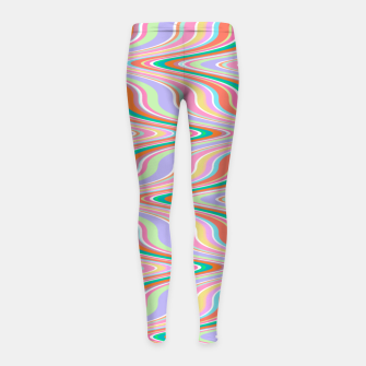 Thumbnail image of Infinity, retro colors of abstract ikat chevron pattern Girl's leggings, Live Heroes