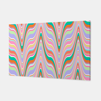 Thumbnail image of Infinity, retro colors of abstract ikat chevron pattern Canvas, Live Heroes